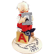 Vintage, Annalee Doll Society, Logo Doll - 1991