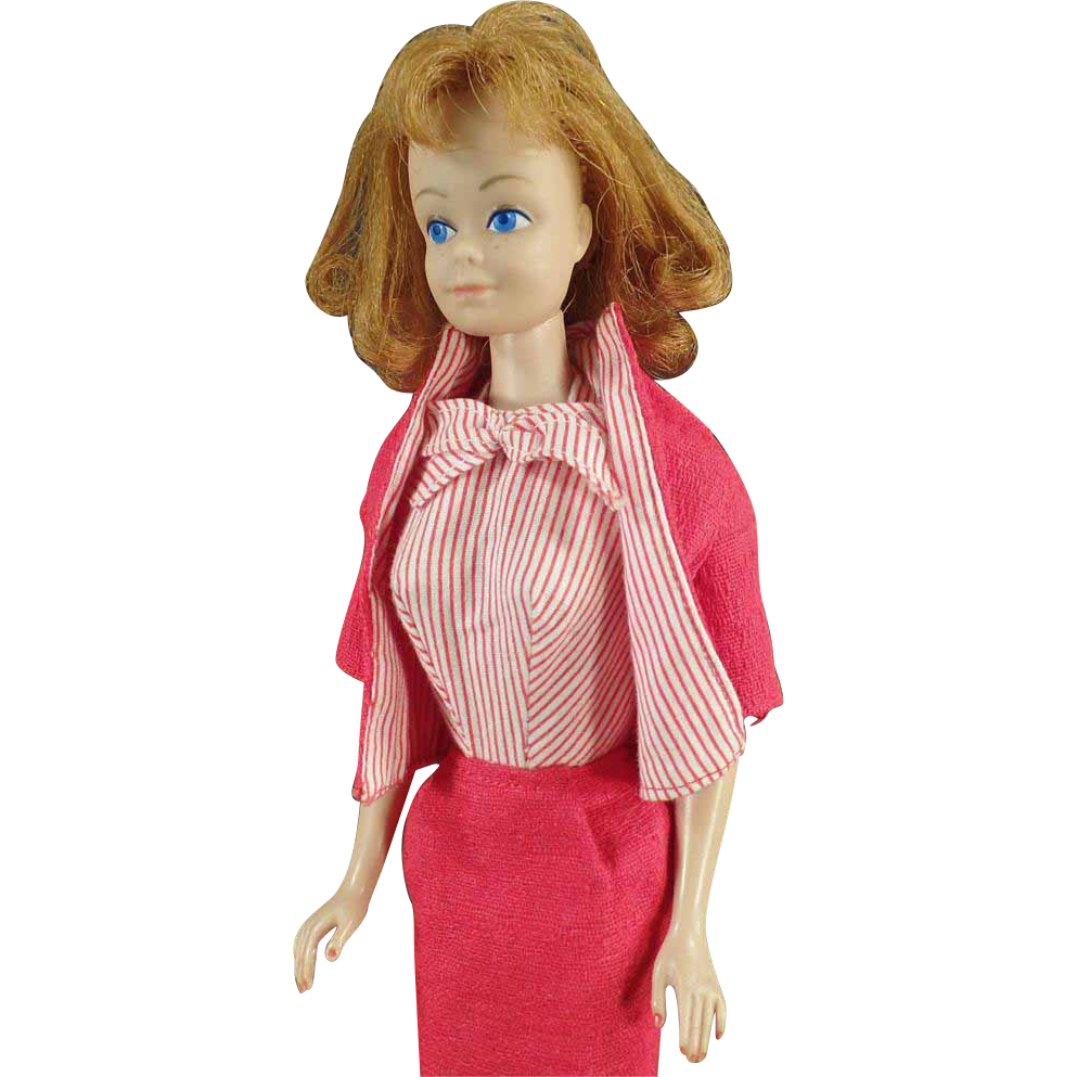 Vintage, Mattel, Midge Doll with Red/Titan Hair in Busy Gal #981 Outfit