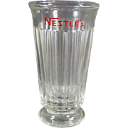 Vintage, Nestle's Advertising Soda or Malt Glass