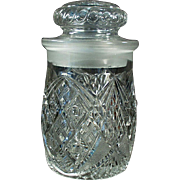 Vintage Crushed Fruit Jar - Attractive, Soda Fountain Back-Bar Piece