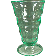 Vintage, Paden City Soda Fountain Malt Glass - Green