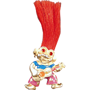 Vintage, Troll Doll Necklace - L.Razza - Colorful Costume Jewelry