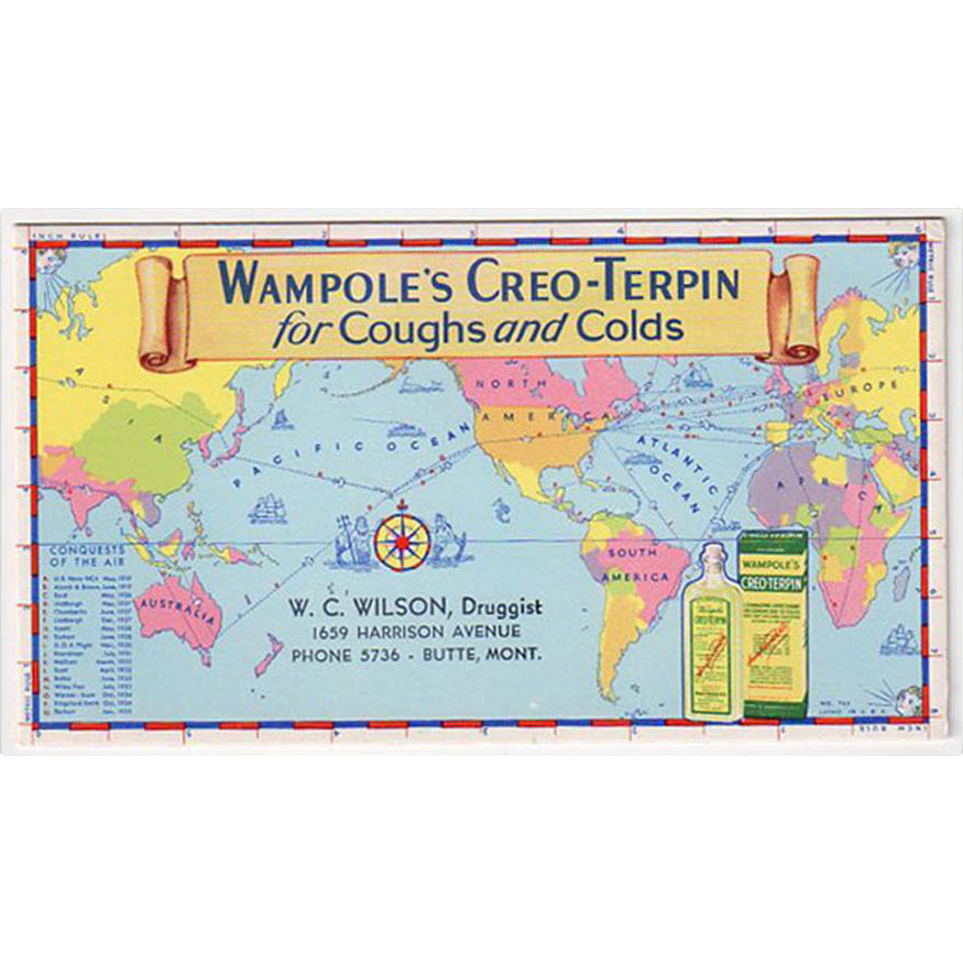 Vintage, Wampole Ink Blotter - Conquests of the Air