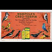 Vintage, Advertising Ink Blotter - Wampole's Creo-Terpin