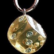 Vintage Key Ring - Large, Lucite and Rhinestone Die