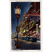 Vintage Postcard - Chinatown, San Francisco