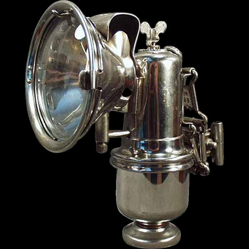 Vintage, Carbide Bicycle Lamp - Riemann with Original Bracket