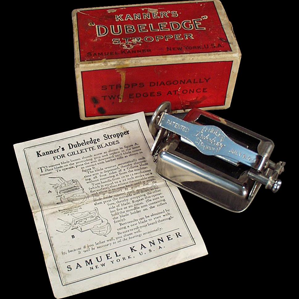 Vintage Razor Blade Stropper with Original Box - Kanner's Dubeledge