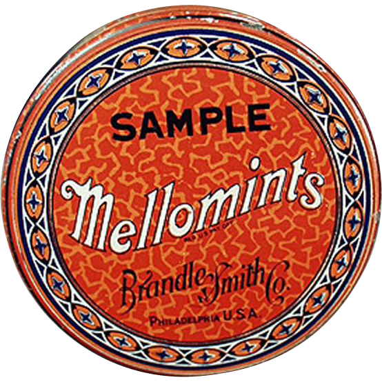 Vintage, Sample Candy Tin - Brandle Smith Mellomints