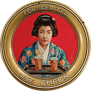 Vintage Advertising Tip Tray - Cheon, Oriental Tea