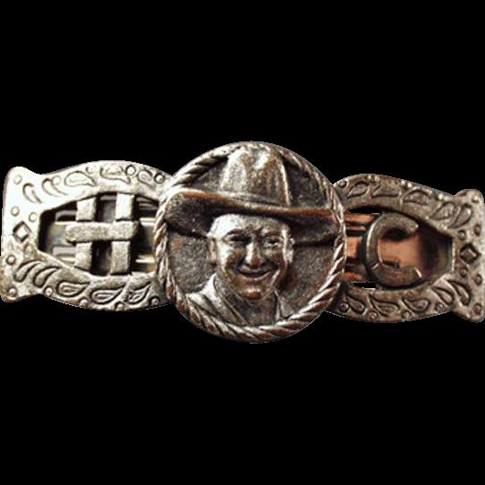 Vintage Hopalong Cassidy Memorabilia - Metal Clip