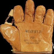 Child's, Vintage Leather Baseball Mitt - Winfield  F33