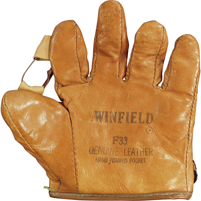 Child's, Vintage Leather Baseball Mitt - Winfield  F33