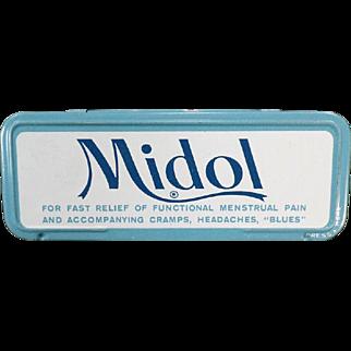 Vintage Medical Tin - Midol for Menstrual Disorders
