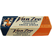 Vintage Van Zee Cheese Box with Dutch Skaters - For for Kitchen Decorating