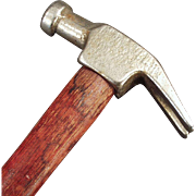 Vintage Claw Hammer with Plated Head