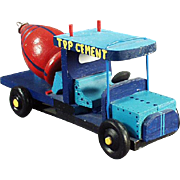 Old, Toy Cement Truck - Hand Crafted from an Old Top