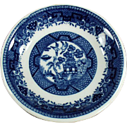 Vintage, Blue Willow Butter Pat - Shenango China