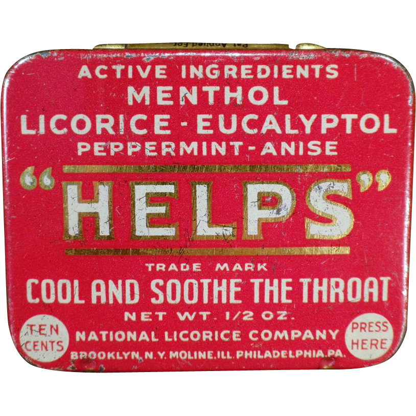 Vintage, Helps Tin from the National Licorice Company