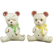 Vintage - California Pottery, Teddy Bear Salt & Pepper Set