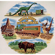 Vintage Souvenir Plate from the Infamous Wall Drug of South Dakota