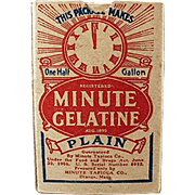 Vintage, Minute Gelatine, Product Sample - Nice Graphics