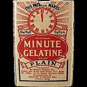 Vintage, Minute Gelatine, Product Sample - Nice Graphics