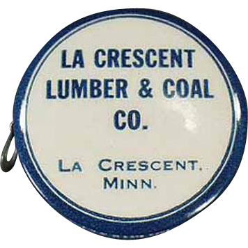 Vintage, Lumber & Coal, Celluloid Advertising Tape Measure