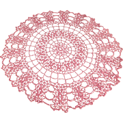 Vintage, Crocheted Doily - Pretty Pink Color