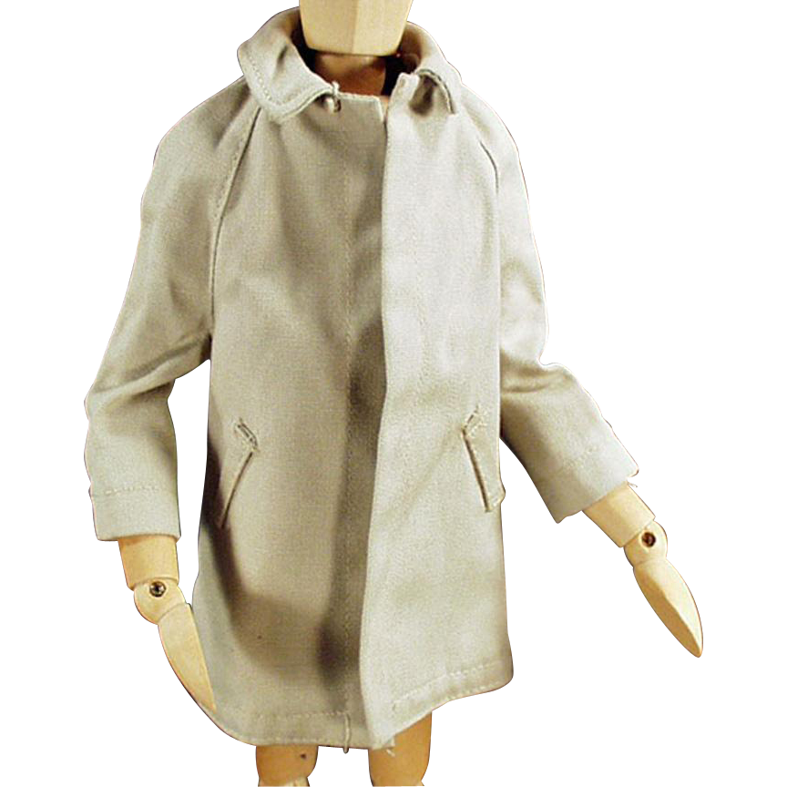 Vintage Doll Clothes for Mattel's Ken Doll - All Weather Over Coat