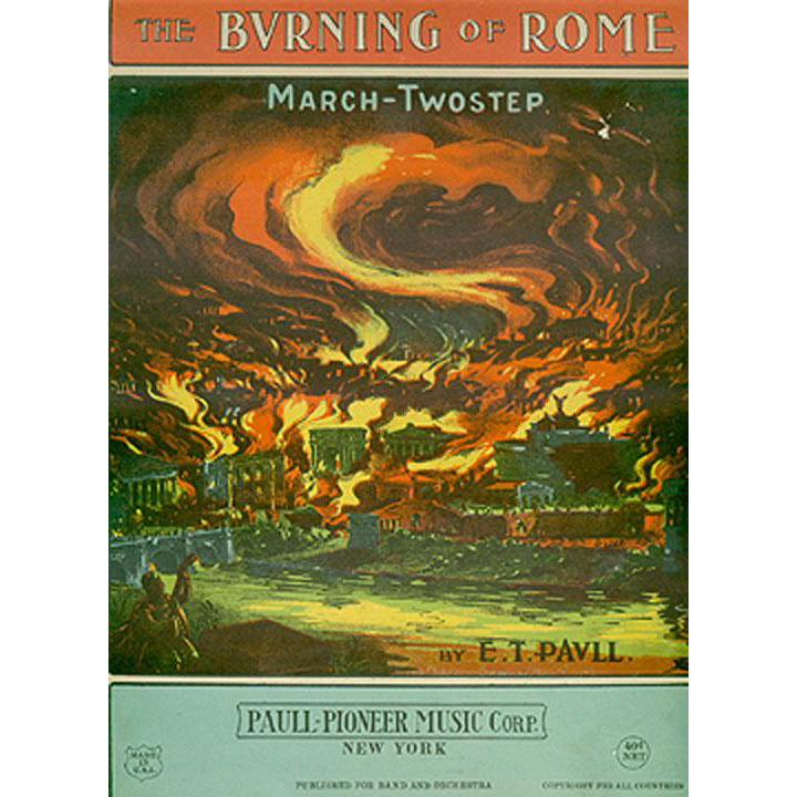 Colorful, Vintage Sheet Music- The Burning of Rome