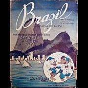 Vintage Sheet Music- Brazil - from Walt Disney's Saludos Amigos