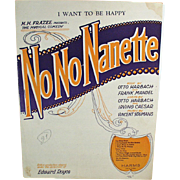 Vintage Sheet Music - I Want To Be Happy from No No Nanette