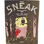 Vintage Sheet Music - The Sneak - Fun Cover