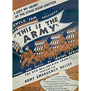 Vintage Sheet Music from This Is The Army, Mister Jones - I Left My Heart at the Stage Door Canteen