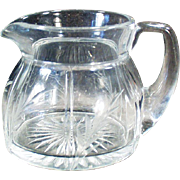 Vintage Heisey Creamer - Rib & Panel Pattern with Cut Design