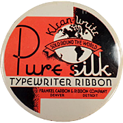 Vintage, Typewriter Ribbon Tin - Klean-Write Pure Silk