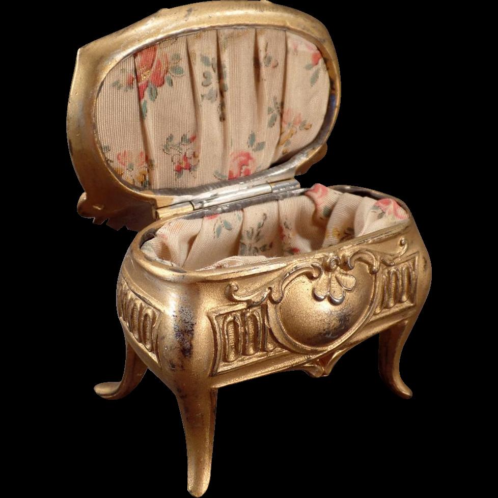 Vintage, Casket Style Jewelry Box - Des Moines, Iowa Souvenir