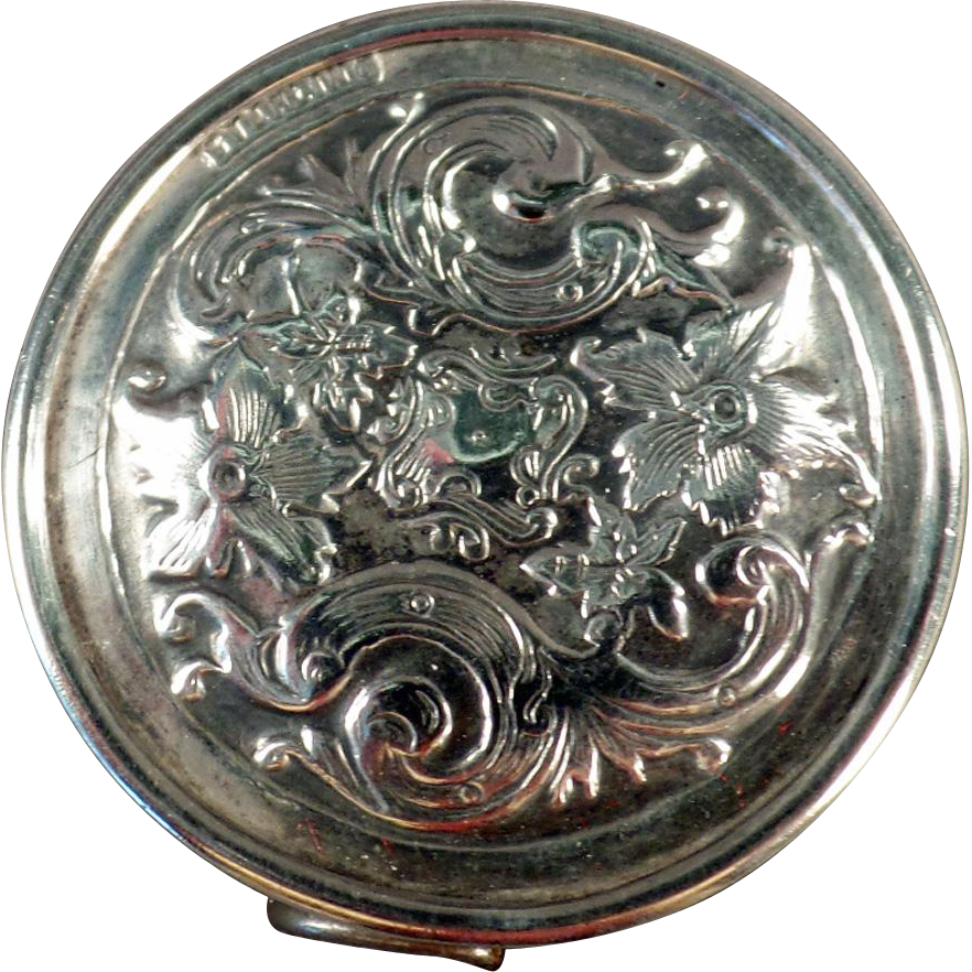Old, Sterling Silver Tape Measure with Elaborate Floral Design