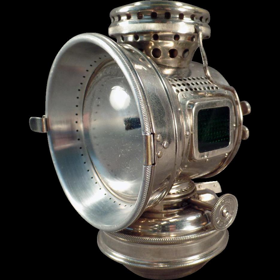 Antique, 20th Century, Kerosene Bicycle Lamp from 1898
