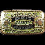 Vintage Razor Blade Tin -  American Gem Razor, Wedge Blade Tin