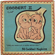 Vintage Cocktail Napkins - Eggbert - Talking Embryo