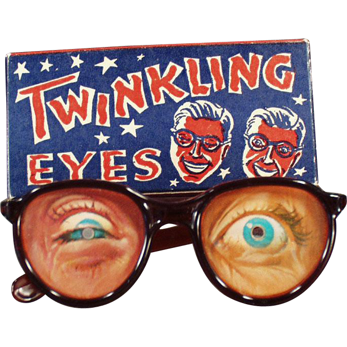 Vintage Flicker, Twinkling Eyes Eyeglasses with Original Box