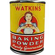 Vintage Baking Powder Tin - Watkins Sample