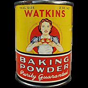 Vintage Baking Powder Tin - Watkins Sample