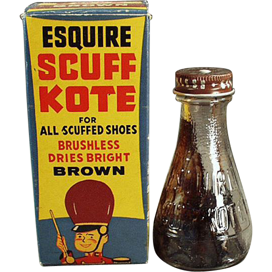 Vintage, Scuff-Kote Shoe Polish with Circus Theme on the Original Box