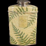 Vintage, After Shave Talc Tin - Houbigant Royal Fern
