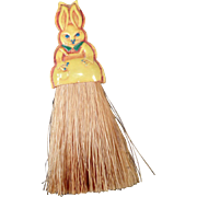 Vintage, Celluloid Bunny Clothes Brush