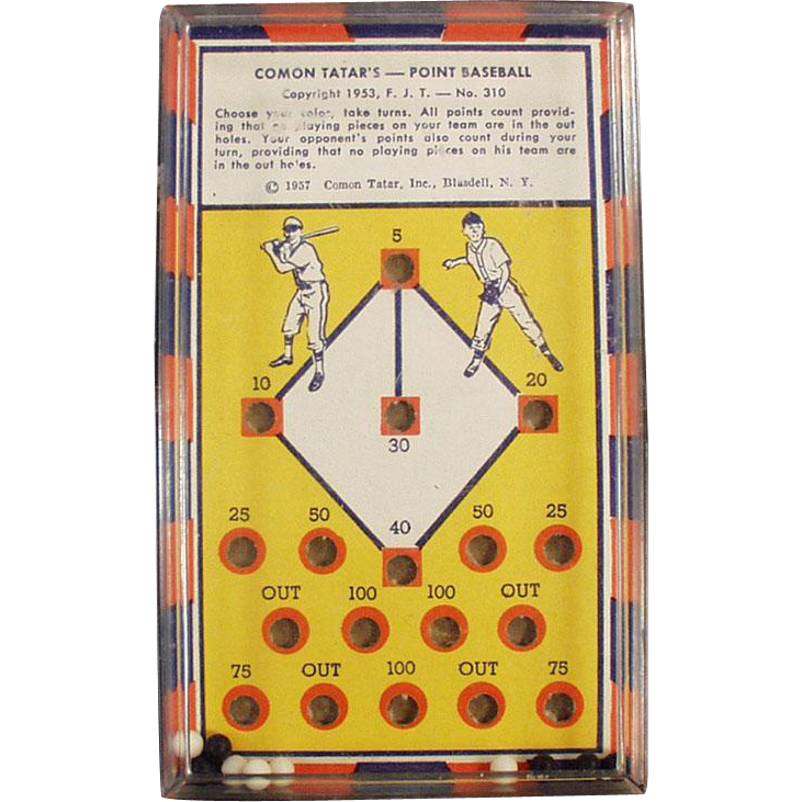 Vintage Dexterity - Skill Game - #310 Comon Tatar's Point Baseball