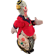 Vintage, T.P.S. Wind-up Toy - Clown Unicyclist - Skippy